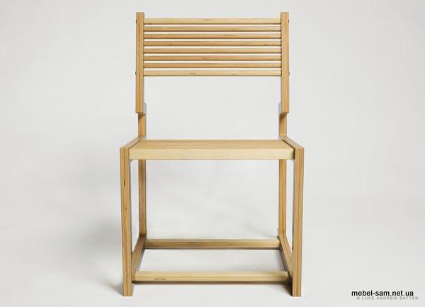 фанерный стул, вид спереди