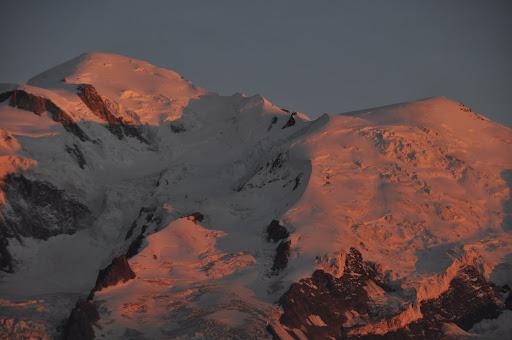 Sunset over Mont Blanc