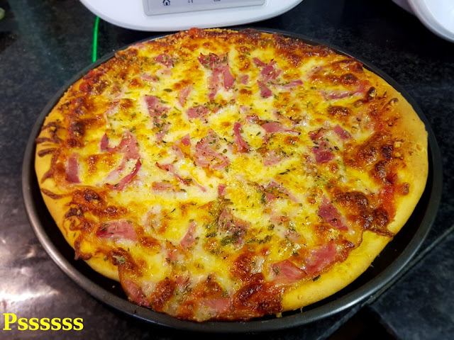 Pizza de lacón con thermomix ®