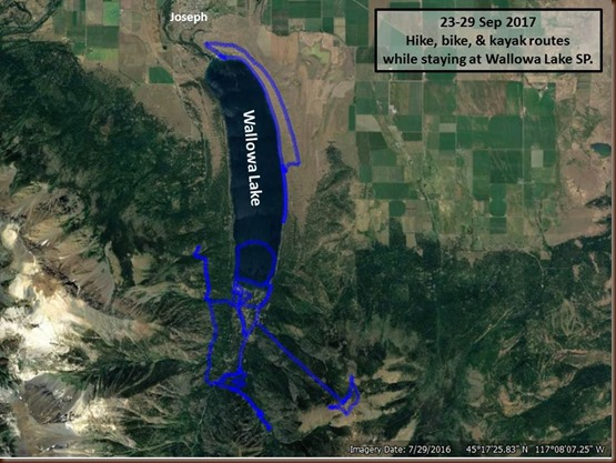 Wallowa Lake-23-29 Sep 2017-all routes