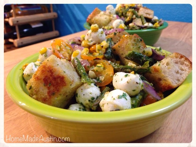 Home Made Austin: Grilled Summer Panzanella (Bread Salad)