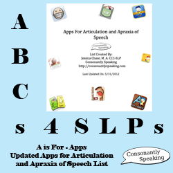 ABCs 4 SLPs: A is for Apps - Updated Applications for Articulation and Apraxia of Speech List image