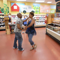 Dancing Salsa at Trader Joe's