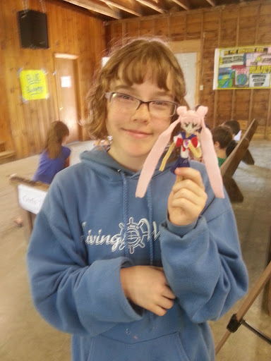 "Juliana made a character from one of her favorite book series, ""Sailor Moon."" Clever girl!"