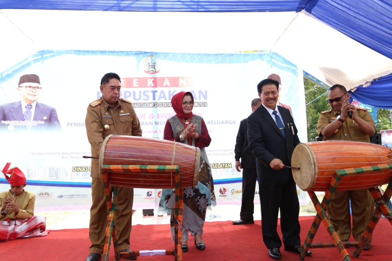 Lies F. Nurdin Resmi Jadi Bunda Baca Sulsel dan Akan Tingkatkan Minat Baca Masyarakat Sulsel
