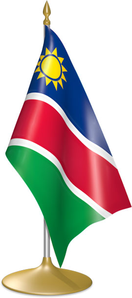 Namibian table flags - desk flags