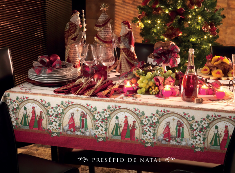 mesa de natal lar doce casa