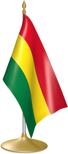 Bolivian table flags - desk flags