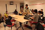 Zach leads klezmer band practice
