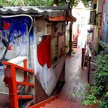 artsy alleyway in harajuku in Harajuku, Tokyo, Japan