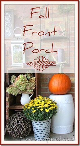 Fall front porch idea using rockers, antiques and farmhouse decor