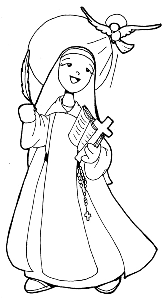 St. Teresa Avila coloring pages