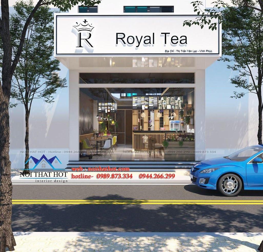 thiết kế quán trà sữa 1