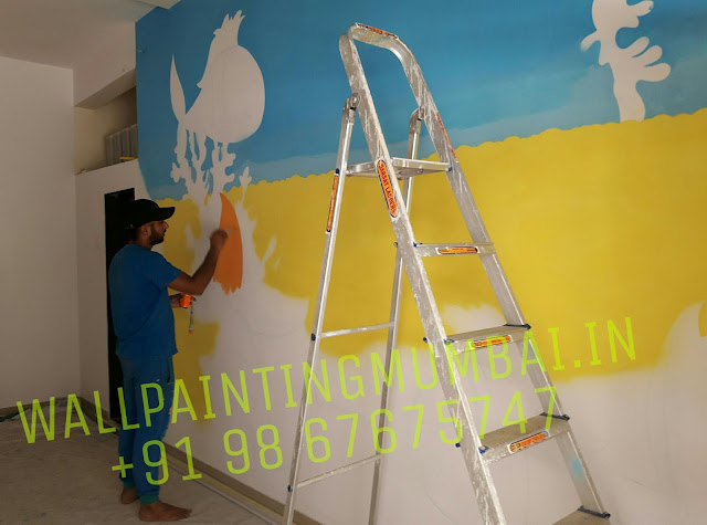 PLAY SCHOOL WALL PAINTING: 2016