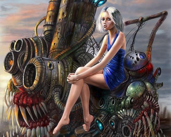 Girl Sitting On A Living Machine, Fairies 3