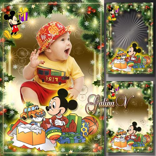Детская рамка - Новогодние подарки для самых маленьких