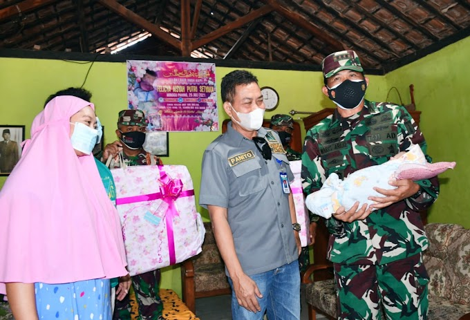 Danrem 081/DSJ Gendong Felicya, Bayi Yang Sempat Ditolongnya