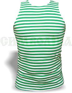 Майка-тільняшка зелена полоска