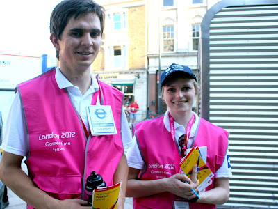 Olympics workers in London