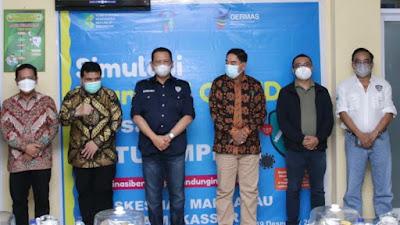 Bamsoet Pantau Simulasi Vaksinasi Covid-19 di Puskesmas Makkasau Makassar
