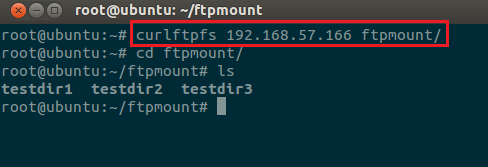 mount ftp local