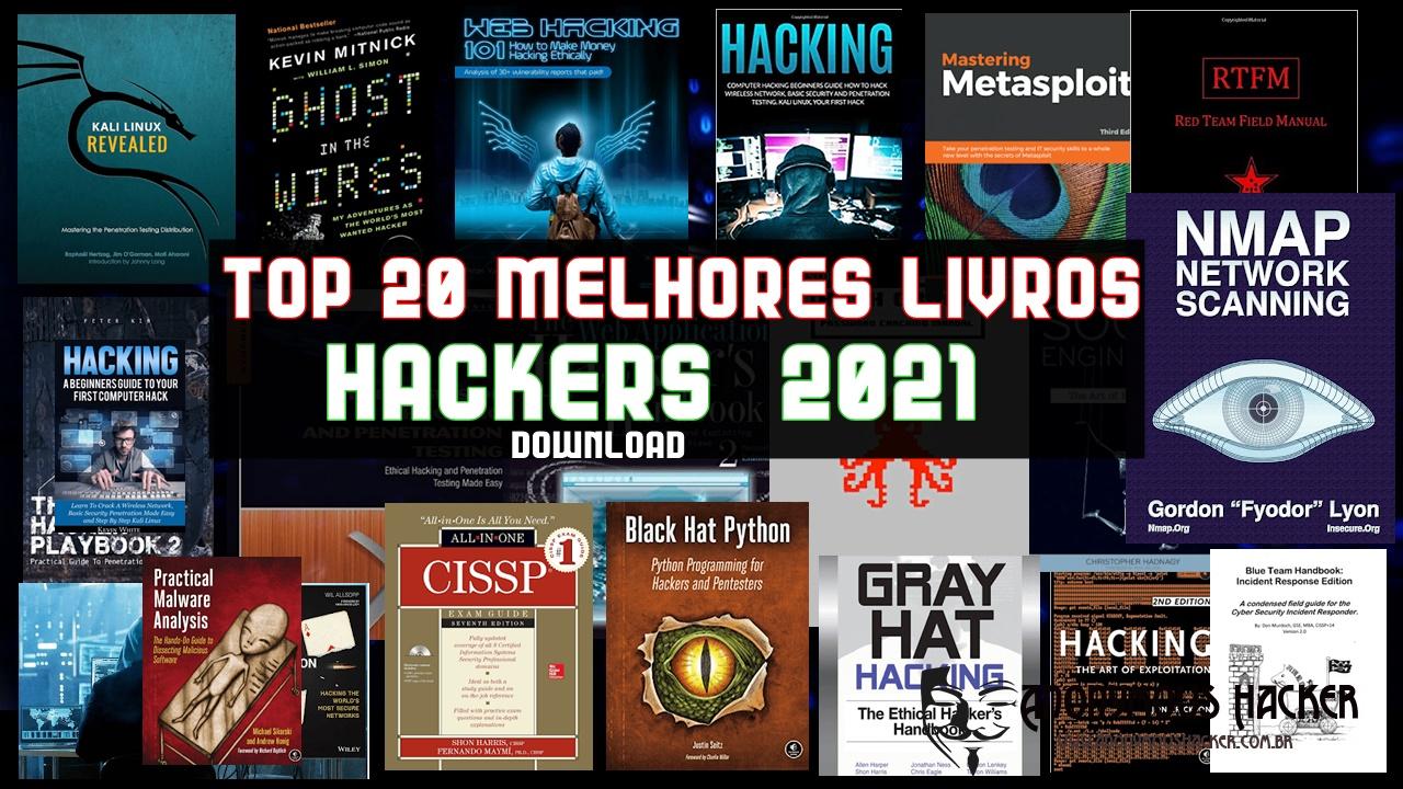 20 melhores livros gratuitos sobre hackers  2021