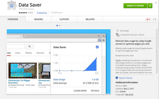 Data Saver Extension