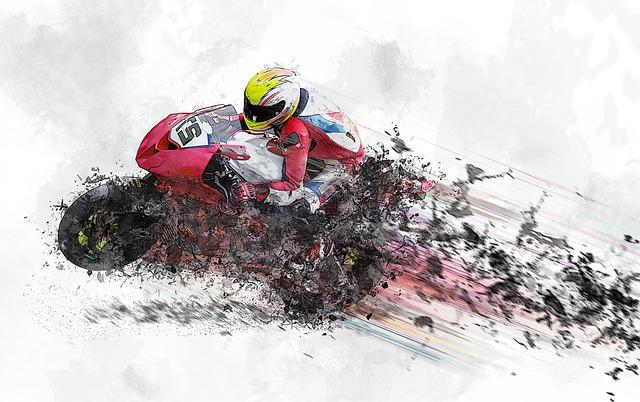 ilustrasi motor berkecepatan super