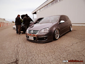 Silver VW Golf with BBS LM wheels
