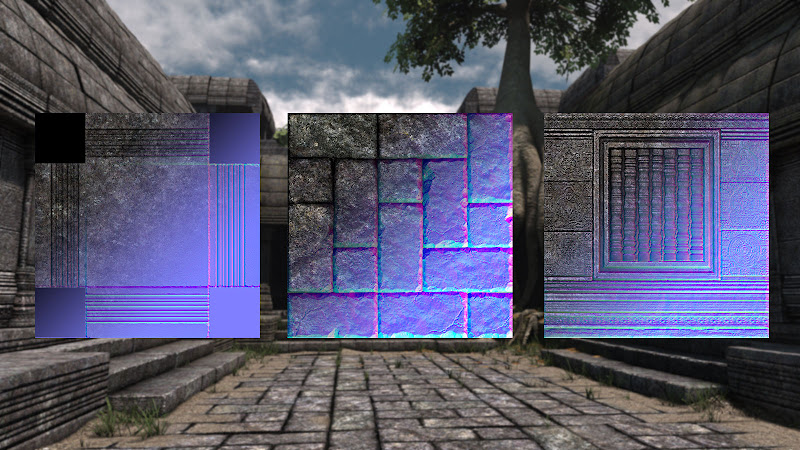 The Temple - Texture maps samples