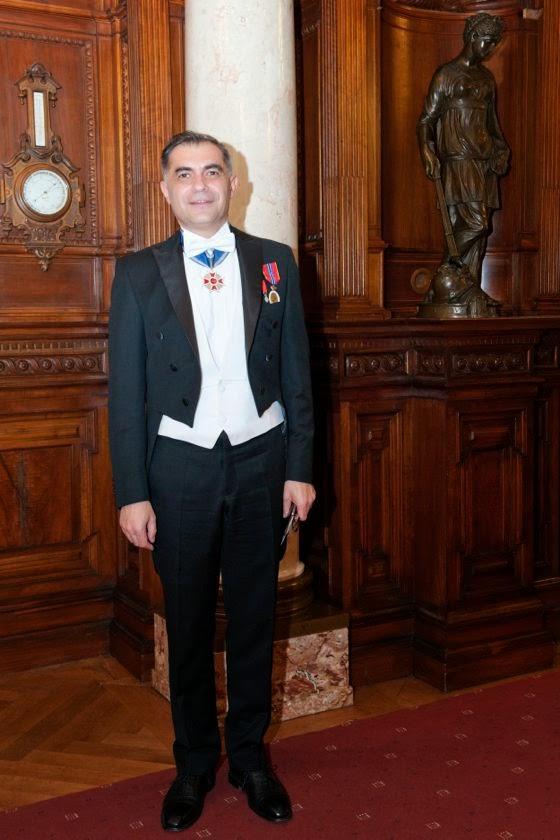 Recepție și Dineu la Castelul Peleș, 26 martie 2014 - Principesa Moștenitoare Margareta a României, principele Nicolae, principele Radu