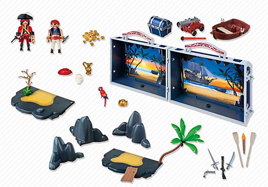 Contenido real de Playmobil® 5347 Cofre del Tesoro Pirata