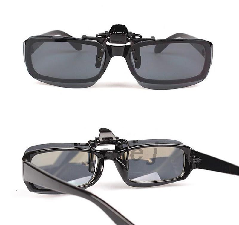 sonnen brille angeln brillenaufsatz aufsatz clip nacht uv gelb gr n schutzbrille ebay. Black Bedroom Furniture Sets. Home Design Ideas