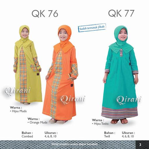 Baju Qirani Anak Model Terbaru