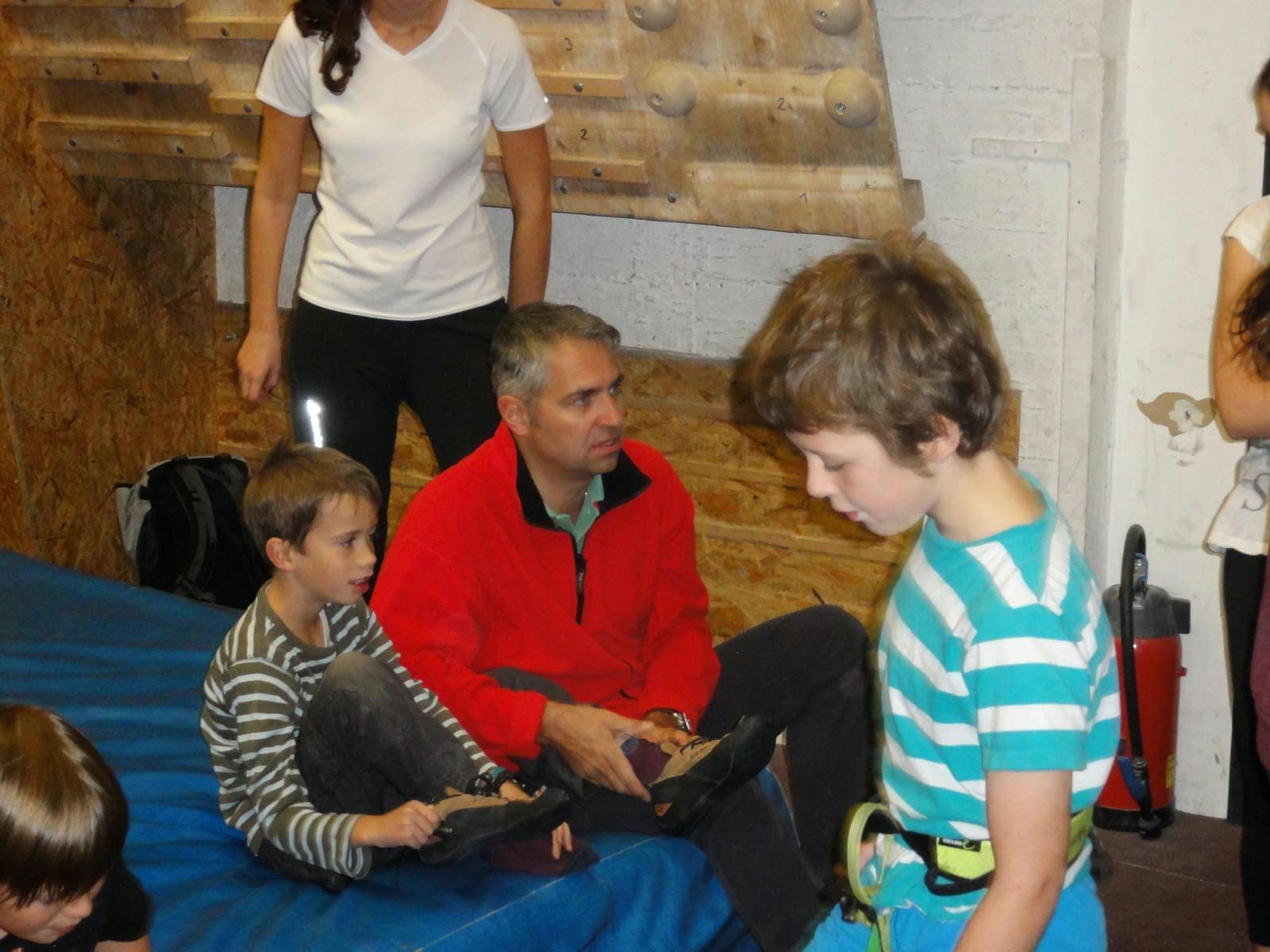 Nachwuchsmusikanten in der Kletterhalle am 25.10.2014
