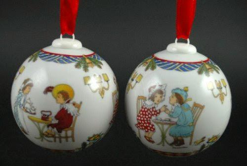 Hutschenreuther Weihnachtskugel 1998 Anh/änger Weihnachten Baumschmuck Baumkugel Baumanh/änger Porzellankugel