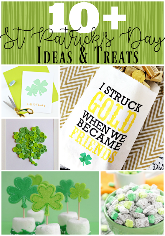 10  St. Patrick's Day Ideas & Treats at GingerSnapCrafts.com #stpatricksday #