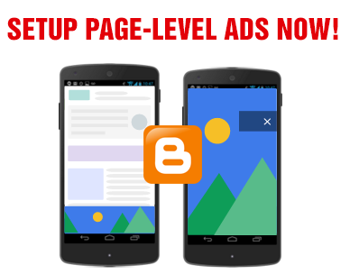 setup adsense page-level ads in blogspot blogs