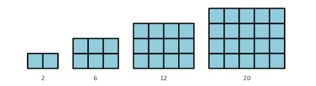 bentuk pola bilangan persegi panjang