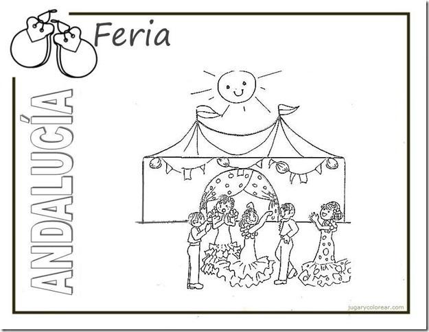 feria Dibujos del Día de la Comunidad Autónoma de Andalucía para pintar