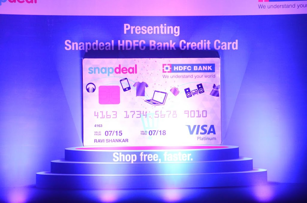 SnapDeal HDFC Bank Credit Card Lanuch - 1