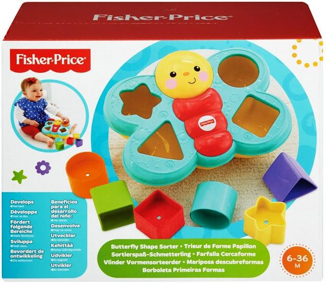 Thả khối Bướm con Fisher Price Butterfly Shape Sorter tuyệt đối an toàn cho bé