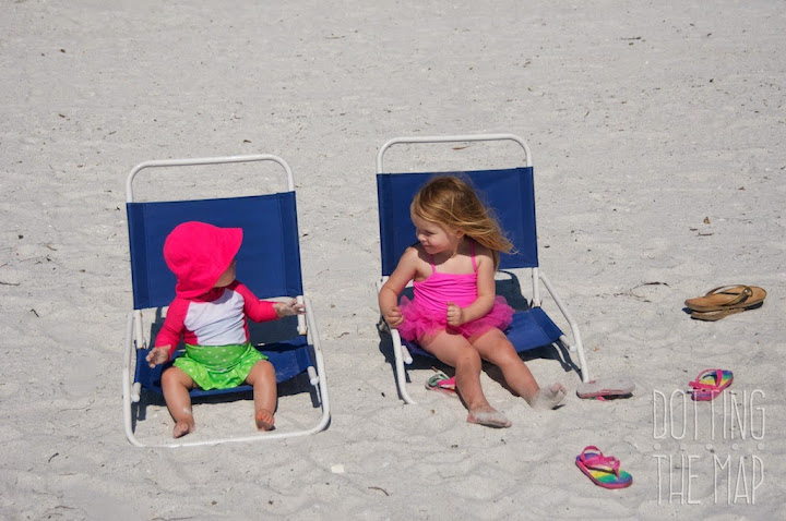 Family travel author (Monsters Don't Ride on Airplanes) Hilarye Fuller's kids in Florida.