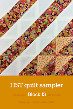 Block 13: 16 HST quilt sampler tutorial