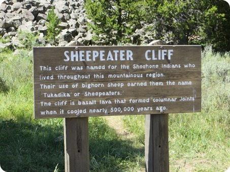 Yellowstone Sheepeater Cliff