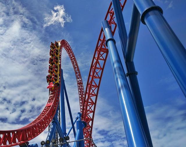 Superman rollercoaster, Gold Coast (Australia)