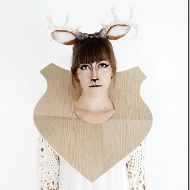 disfraz de ciervo disecado