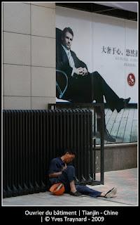 Ouvrier du bâtiment | Tianjin - Chine | © Yves Traynard - 2009