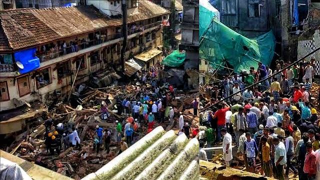 मुम्बई में इमारत गिरी : डोंगरी में 100 साल पुरानी इमारत गिरने से 12 लोगों की हुई मौत