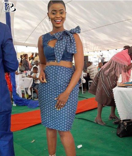 Cinderella Shweshwe Dress: Elegant Shweshwe Dresses 2018
